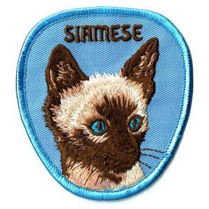 ネコ ワッペン SIAMESE|markers-patch
