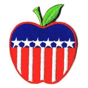 星条旗ワッペン USアップル|markers-patch