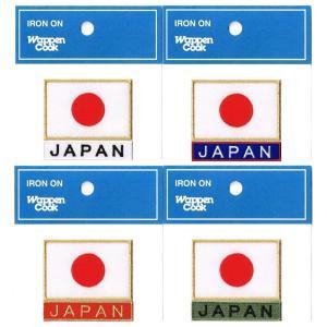 ワッペン 日の丸 日本国旗 ゴールド2S+JAPAN markers-patch