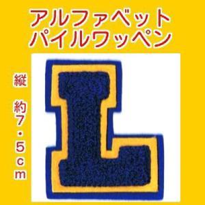 アルファベットワッペン タテ約7.5cmLコン|markers-patch