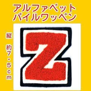 アルファベットワッペン タテ約7.5cmZアカ|markers-patch