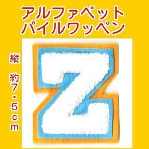 アルファベットワッペン タテ約7.5cmZシロ|markers-patch