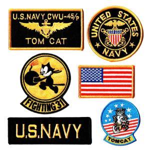 アメリカ海軍 ミリタリーパッチ 米海軍 ワッペンセット ...