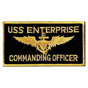 アメリカ軍 ミリタリーワッペン 米海軍USS ENTERPRISE角|markers-patch