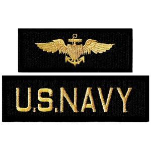 ミリタリーワッペン NAVY+海軍章 2Pセット|markers-patch