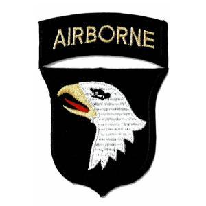 アメリカ陸軍 ミリタリーパッチ 第101空挺師団スクリーミングイーグル+エアボーン ...