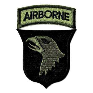 ミリタリーパッチ 第101空挺師団ODスクリーミングイーグル...