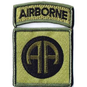 ミリタリーパッチ 第82空挺師団オールアメリカンOD+ABタ...