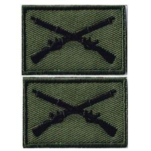 ミリタリーパッチ 米軍部隊章歩兵 ワッペン OD-G2Pセッ...