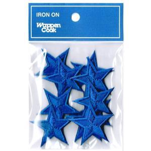 刺繍ワッペン 星 ブルースタ−(10個セット)|markers-patch