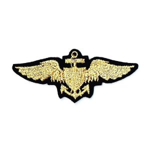 ミリタリーワッペン 海軍章ゴールド|markers-patch