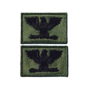 ミリタリーパッチ 米軍階級章大佐 ワッペン OD 両襟2Pセ...