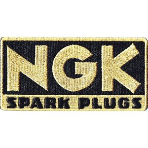 レーシング エンブレムワッペン NGK角型|markers-patch