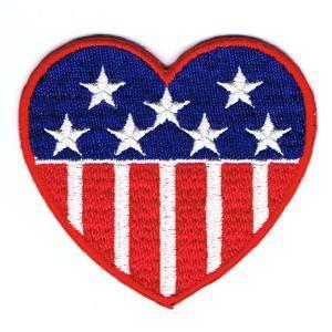星条旗ワッペン USハート|markers-patch