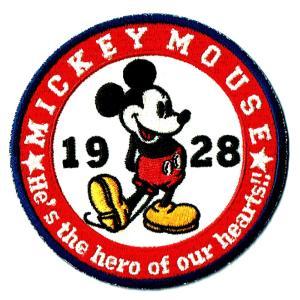 ディズニー ワッペン キャラクター ミッキーマウス サークル markers-patch