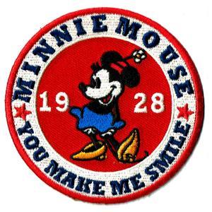 ディズニー ワッペン キャラクター ミニーマウス サークル markers-patch