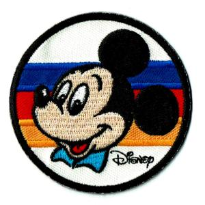 ディズニー ワッペン キャラクター ミッキーマウス ストライプ markers-patch
