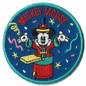 ディズニー ワッペン キャラクター ミッキーマウス 90 YEARS コンダクター markers-patch