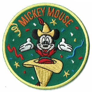 ディズニー ワッペン キャラクター ミッキーマウス 90 YEARS アドベンチャー markers-patch