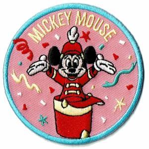 ディズニー ワッペン キャラクター ミッキーマウス 90 YEARS マーチング markers-patch
