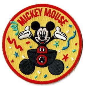 ディズニー ワッペン キャラクター ミッキーマウス 90 YEARS スタンダード markers-patch