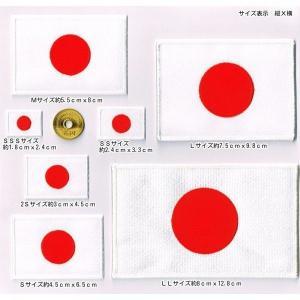 ワッペン 日本国旗 日の丸  SSS〜LL【全7種】 markers-patch