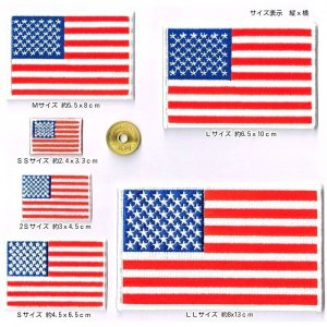 ワッペン 星条旗  アメリカ国旗 SS〜LL全6種 markers-patch