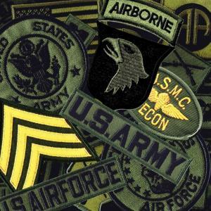 アメリカ軍 ワッペン ミリタリーパッチ 野戦用 6枚セット|markers-patch