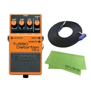 BOSS TURBO Distortion DS-2 + 3m ギターケーブル VOX VGS-30 セット コンパクトエフェクター|marks-music