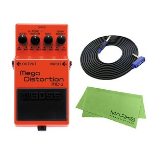 BOSS Mega Distortion MD-2 + 3m ギターケーブル VOX VGS-30 セット コンパクトエフェクター|marks-music