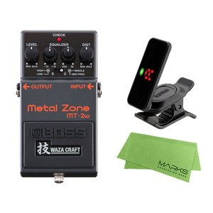 BOSS Metal Zone MT-2w + KORG Pitchclip 2 PC-2 + マー...
