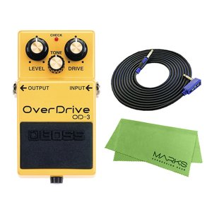 BOSS OverDrive OD-3 + 3m ギターケーブル VOX VGS-30 セット コンパクトエフェクター|marks-music
