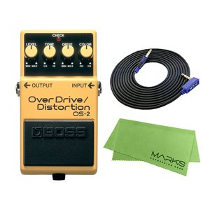 BOSS OverDrive/Distortion OS-2 + 3m ギターケーブル VOX VGS-30 セット コンパクトエフェクター|marks-music