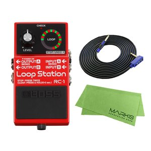 BOSS Loop Station RC-1 + 3m ギターケーブル VOX VGS-30 セット コンパクトエフェクター|marks-music