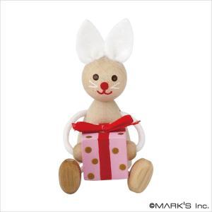 【Xmas(クリスマス)】ウッド トイ・プレゼントレスニー/デトア/ウサギ|marks