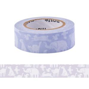 マスキングテープ 手帳 水性ペンで書けるマスキングテープ 小巻 「マステ」 どうぶつ 動物 アニマル...
