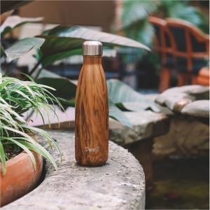 ボトル 17oz 500ml S'well スウェル ウッド チークウッド 水筒 ステンレス Swell スウエル 日用品 キッチン 台所用品