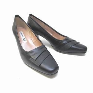 ユキコキミジマ Yukiko Kimijima 8421 レディース パンプス スクウェアトゥ フォーマル靴 通勤履き 本革 仕事履き ブラック marm-shopping0105 02