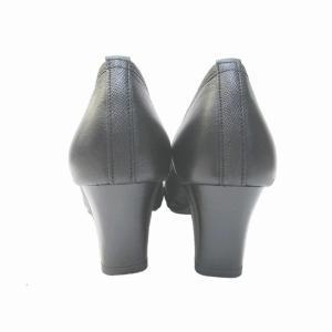 ユキコキミジマ Yukiko Kimijima 8421 レディース パンプス スクウェアトゥ フォーマル靴 通勤履き 本革 仕事履き ブラック marm-shopping0105 05