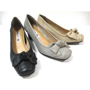 Yukiko Kimijima 9330 レディース 日本製 革パンプス 外反母趾靴 リボン 通勤靴 仕事靴 ソフト革|marm-shopping0105