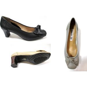 Yukiko Kimijima 9330 レディース 日本製 革パンプス 外反母趾靴 リボン 通勤靴 仕事靴 ソフト革|marm-shopping0105|02