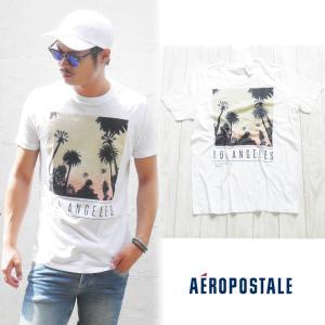 エアロポステール aeropostale エアロ ポステール  Tシャツ 半袖Tシャツ サーフブランド サーフ系 ブランド サーファー アメカジ ファッション ホワイト