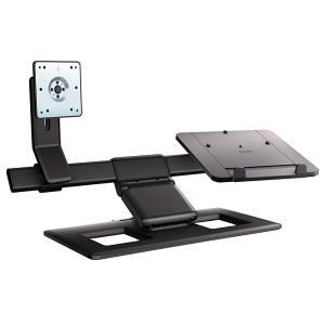 モニターアーム パソコン PC ディスプレイアーム+ノートPCスタンド HP ヒューレット・パッカード Display and Notebook Stand AW662AA-UUF|marshal