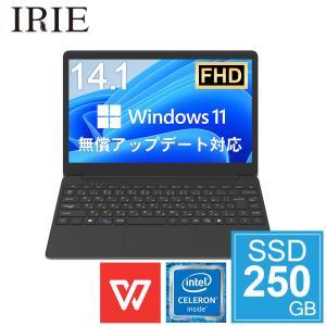 ノートパソコン office付き 新品 SSD 250GB 14.1インチ Win10pro M.2...