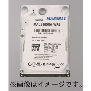 HDD ハードディスク 2.5インチ 120GB SATA S-ATA MAL2120SA-T54 5400rpm MARSHAL 送料無料|marshal