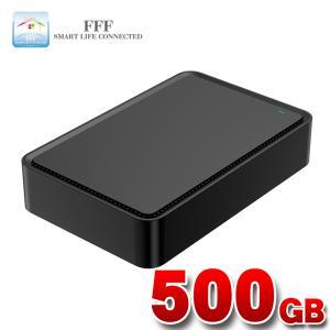 外付け HDD ハードディスク 500GB Windows10対応 TV録画 REGZA ブラック|marshal