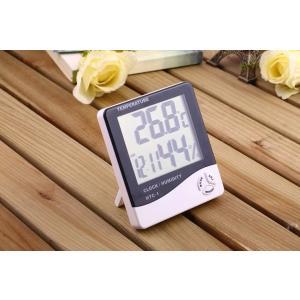 デジタル温湿度計 見やすいデカ文字 温度計 湿度計 時計 ア...