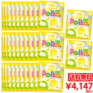 【送料無料】ポルカ(レモン味)1ケース(32袋)|marshmallowland