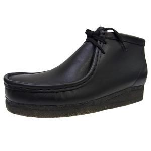 CLARKS WALLABEE BOOT BLACK クラークス ワラビー ブーツ ブラック 黒レザー スムースレザー オリジナルス|marsone