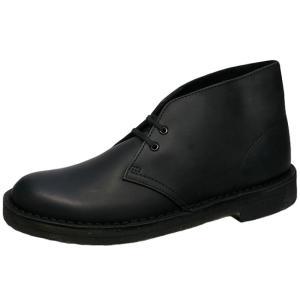 CLARKS DESERT BOOT BLACK SMOOTH LEATHER クラークス デザートブーツ 黒スムースレザー オリジナルス ブラック|marsone